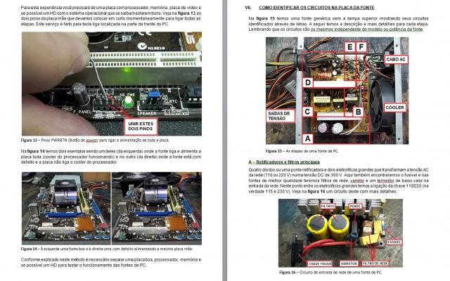 E-BOOK MANUTENÇÃO EM FONTES DE PC - Ref EB002
