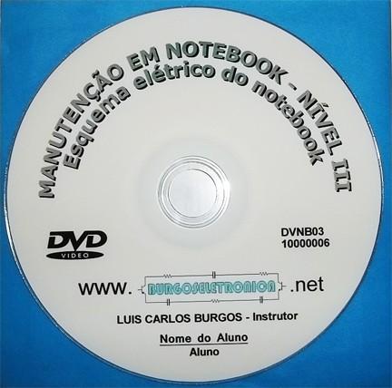 MANUTENÇÃO DE NOTEBOOK EM VÍDEO AULA - DVNB01 AO 03