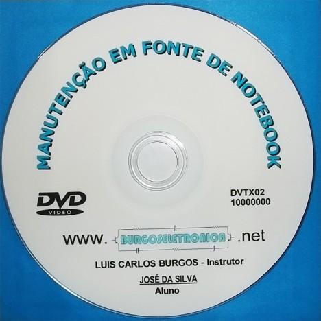 MANUTENÇÃO EM FONTE DE NOTEBOOK EM VÍDEO AULA - DVTX02