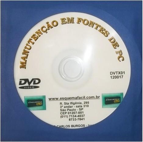 MANUTENÇÃO EM FONTES DE PC EM VÍDEO AULA - DVTX01