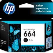 Cartucho HP 664 preto F6V29AB HP CX 1 UN