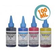 Kit 4 Tintas Epson Corante Universal - 100 ml