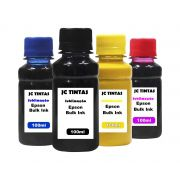 Kit 4 Tintas, Sublimática Epson Universal - 100 Ml