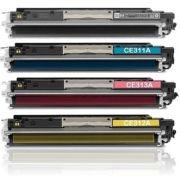 Kit 4 Toner Remanufaturado HP 126A CE310A CE311 CE312 CE313 CMYK - HP CP1025 M175 CP1025NW M175NW M175A