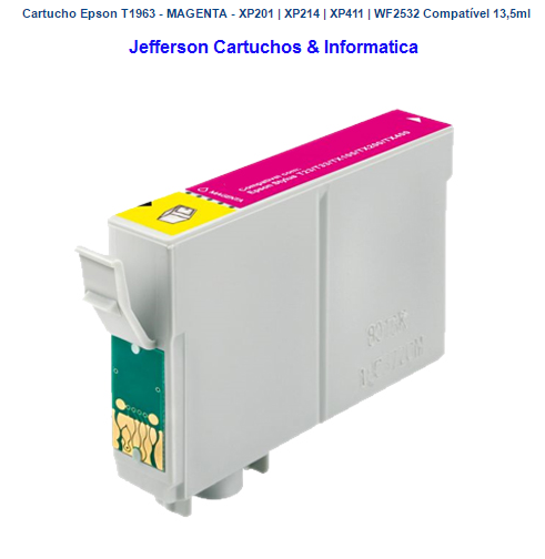 Cartucho Epson T1963 - MAGENTA -  Compatível 13,5ml