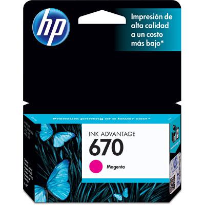 Cartucho HP 670 magenta CZ115AB HP CX 1 UN