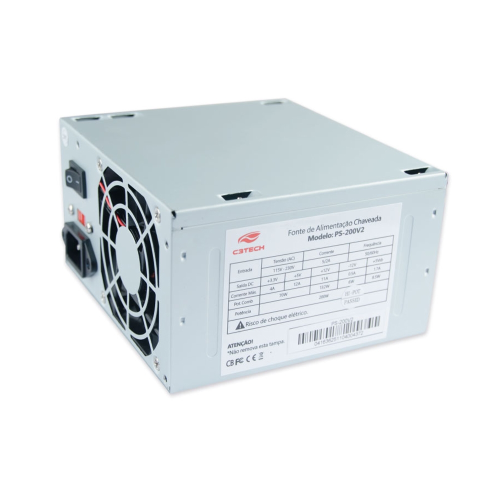 Fonte C3 Tech ATX 200W PS-200V2