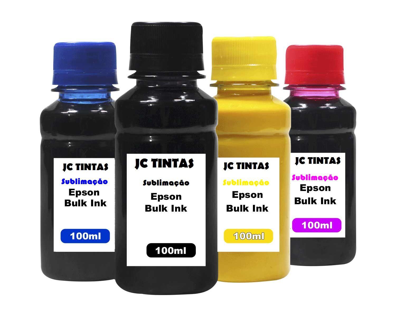 Kit 4 Tintas, Sublimática Epson Universal - 100 Ml