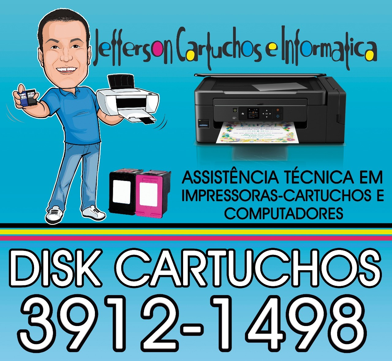 Recarga de cartucho Conj. Res. Galo Branco, São José dos Campos - SP, 12247-500 (12) 3912-1498 Watts (12) 98854-4886