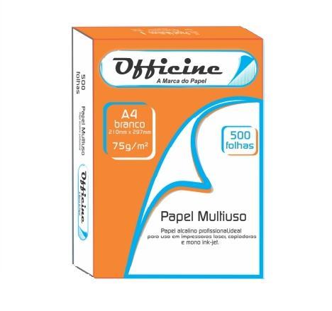 Sulfite A4 75grs Officine Caixa C/10 Resmas