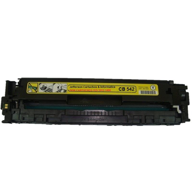 Toner Remanufaturado HP 125A CB542A Yellow - HP CP1215 CM1312 CP1515 CP1510 CP1518 para 1.400 impressões