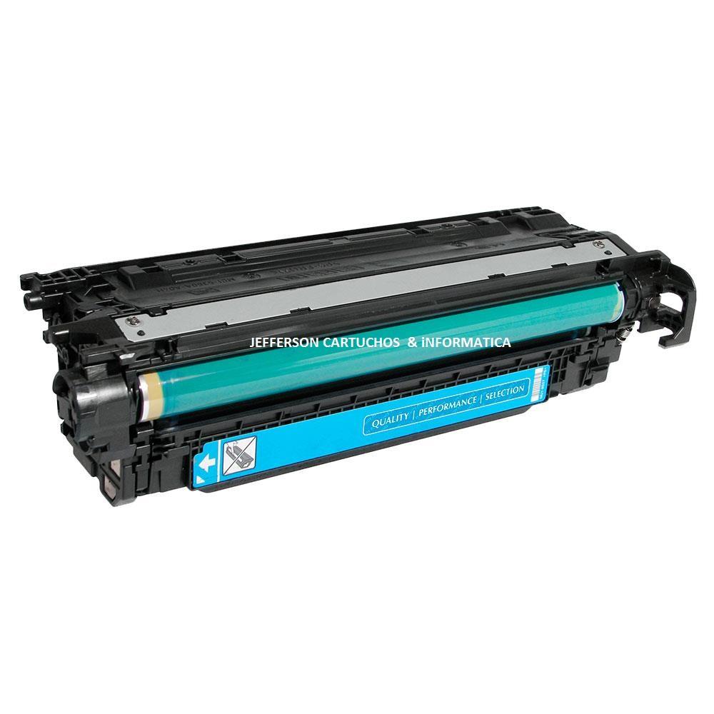 Toner Remanufaturado HP 504A CE251A Ciano - HP CP3525 CP3525DN CP3525N CM3530 para 7.000 impressões
