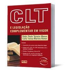CLT e Legislação Complementar em Vigor, 8a.edição, 2010