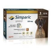Antipulgas Zoetis Simparic 120 mg para Cães 40,1 á 60 Kg - 3 Comprimidos