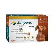 Antipulgas Zoetis Simparic 20 mg para Cães 5,1 a 10 Kg - 3 Comprimidos