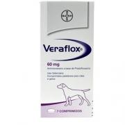 Antimicrobiano Bayer Veraflox 60 mg para Cães 7 Comprimidos