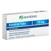 Antimicrobiano Ouro Fino Enrotrat Tabs de 10 Comprimidos - 25 mg