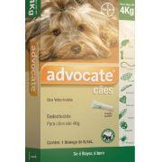 Antipulgas Bayer Advocate Cães até 4 Kg - 0,4 mL 1 Pipeta