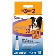 Antipulgas e Carrapatos Ceva Vectra 3D para Cães de 10 a 25 Kg 3,6 mL 3 Pipetas