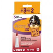 Antipulgas e Carrapatos Ceva Vectra 3D para Cães de 40 a 67 Kg 8 mL 3 Pipetas