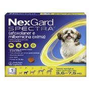 Antipulgas e Carrapatos NexGard Spectra Cães de 3,6 a 7,5 Kg 1 Tablete
