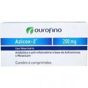 Antibiótico e Anti-inflamatório Ouro Fino Azicox 2 de 6 Comprimidos - 200 mg
