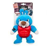 Brinquedo Pelucia e Borracha Hero Thor Coelho 22cm