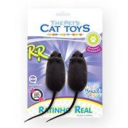 Brinquedo Ratinho Real Blister Com 2 Unidades