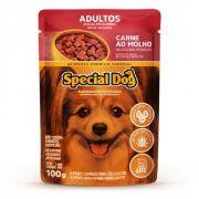 Kit com 12 Ração Úmida Special Dog Sachê Carne Cães Racas Pqna Adultos 100gr