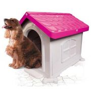 Casa Plastica Desmontável  Pet Injet N2 Rosa