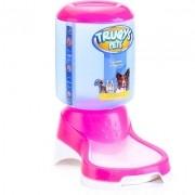 Comedouro Automático Truqys Pets Rosa com Galão 1 Kg