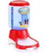 Comedouro Automático Truqys Pets Vermelho com Galão 1 Kg