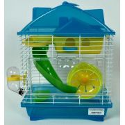 Gaiola Hamster Play Luxo Mix - Laranja - 23cm x 17cm x 23cm