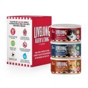 Kit 3 Livelong Delícias Carne, Aves e Peixe 150gr