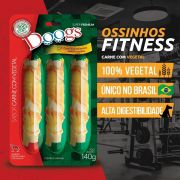 Kit 3 Petisco Roll Doogs Carne Com Vegetal 140g