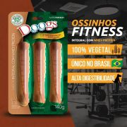 Kit 3 Petisco Roll Doogs Integral Com Whey Protein 140g