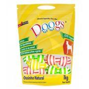 Pacote Osso No Natural Colorido Doogs 3/4 1Kg