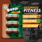 Kit 3 Petisco Ossinho Doogs Integral Com Whey Protein 150g