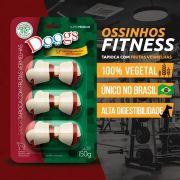 Kit 3 Petisco Ossinho Doogs Tapioca Com Frutas Vermelhas 150g