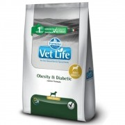 Ração Farmina Vet Life Natural Obesity e Diabetic Cães Mini 10,1kg