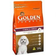 Ração Golden Fórmula Cães Adultos Carne e Arroz Mini Bits - 3 KG