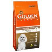 Ração Golden Fórmula Cães Adultos Salmão e Arroz Mini Bits - 15 KG