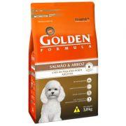 Ração Golden Fórmula Cães Adultos Salmão e Arroz Mini Bits - 3KG