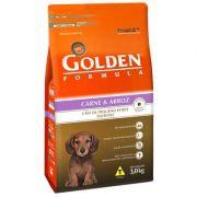 Ração Golden Fórmula Cães Filhotes Carne Mini Bits - 3KG