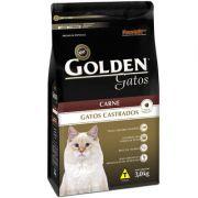 Ração Golden Gatos Castrados Carne - 3 KG