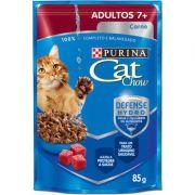 Ração Nestlé Purina Cat Chow Adultos 7+ Sachê Carne ao Molho 85gr