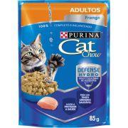 Ração Nestlé Purina Cat Chow Adultos Sachê Frango ao Molho 85gr