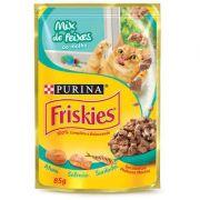 Ração Nestlé Purina Friskies Mix de Peixe ao Molho para Gatos Adultos 85gr
