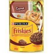 Ração Nestlé Purina Friskies Sachê Carne ao Molho para Gatos 85gr