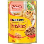 Ração Nestlé Purina Friskies Sachê Salmão ao Molho para Gatos 85gr